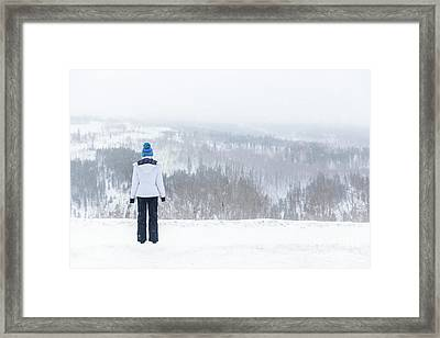 Freezing Solitude Framed Print by Evelina Kremsdorf