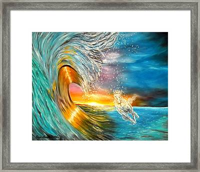 Freezing The Moment Framed Print by Faye Anastasopoulou