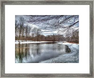 Freezing Up Framed Print