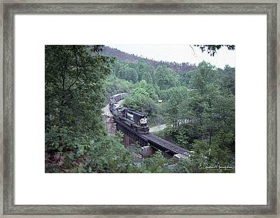 Freight At Mill Creek Framed Print