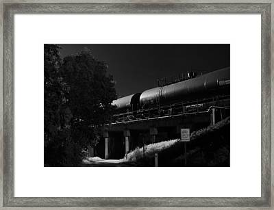 Freight Over Bike Path Framed Print