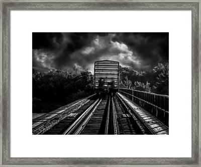 Freight Train Blues Framed Print by Bob Orsillo