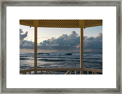 Freighter Off Montego Bay Framed Print