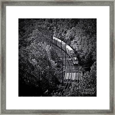 Freighting Away Framed Print by Olivier Le Queinec