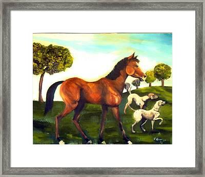 Freinds Framed Print by Leslie Spurlock