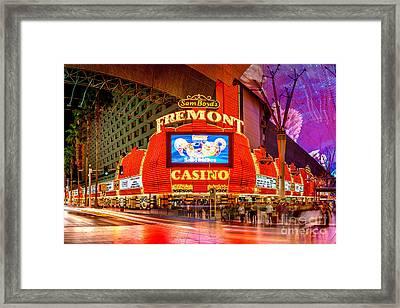 Fremont Casino Framed Print by Az Jackson
