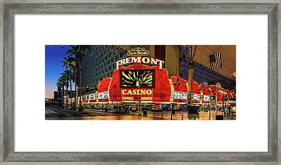 Fremont Casino Entrance Framed Print