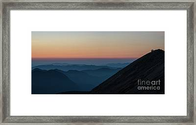 Fremont Lookout Sunset Layers Pano Framed Print