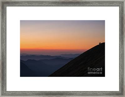 Fremont Lookout Sunset Layers Vision Framed Print