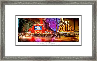 Fremont Street Experience Poster Print Framed Print by Az Jackson