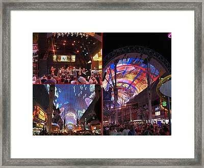 Fremont Street, Las Vegas Framed Print by Art Spectrum