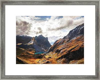 French Alps Framed Print
