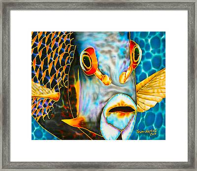 French Angelfish Face Framed Print
