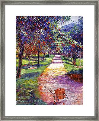 French Apple Orchards Framed Print