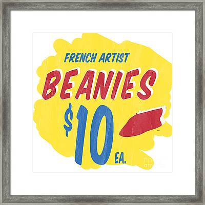 French Artist Beanies Framed Print by Edward Fielding