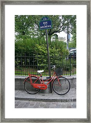French Bike And Street Framed Print by Dennis Curry