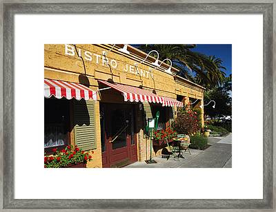 French Bistro Framed Print by George Oze