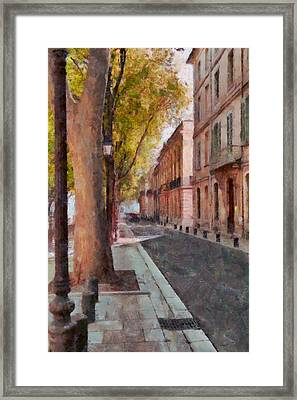 Framed Print featuring the photograph French Boulevard by Scott Carruthers