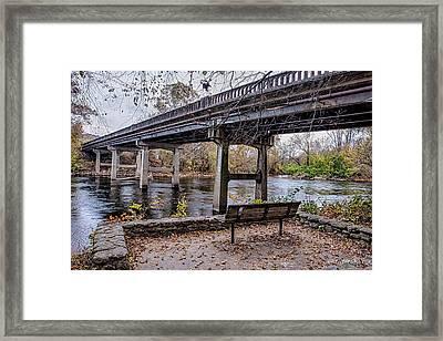 French Broad River Park Framed Print by Walt  Baker