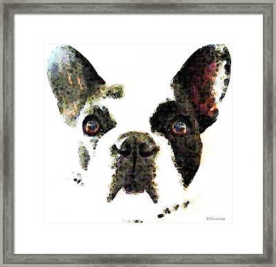 French Bulldog Art - High Contrast Framed Print by Sharon Cummings