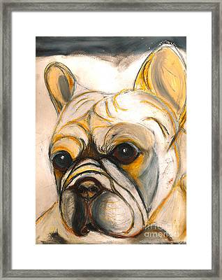 French Bulldog Drawing Framed Print by Ania M Milo