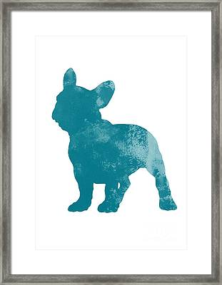 French Bulldog Fine Art Illustration Framed Print by Joanna Szmerdt