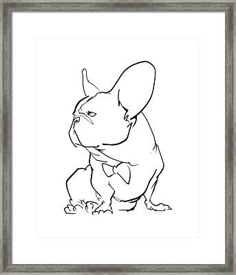 French Bulldog Gesture Sketch Framed Print