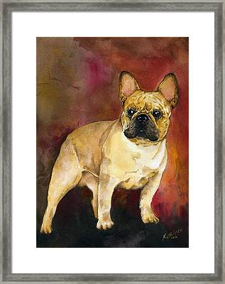 French Bulldog Framed Print by Kathleen Sepulveda