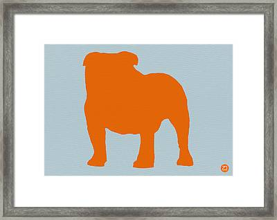 French Bulldog Orange Framed Print by Naxart Studio