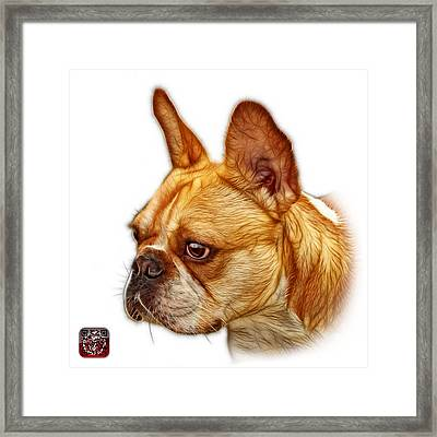Framed Print featuring the painting French Bulldog Pop Art - 0755 Wb by James Ahn