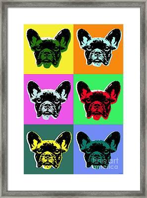French Bulldog Pop Art Style Framed Print