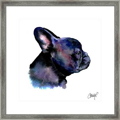 French Bulldog Portrait Framed Print