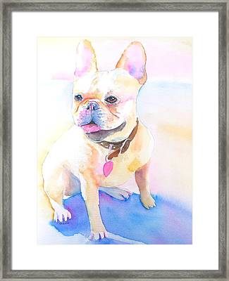 French Bulldog Watercolor Framed Print