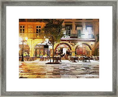 French Cafe Framed Print