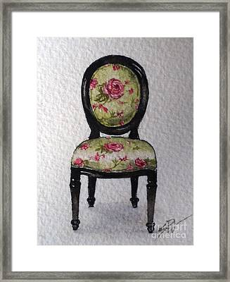 French Chair Framed Print