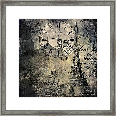 French Collage  Framed Print by Svetlana Sewell