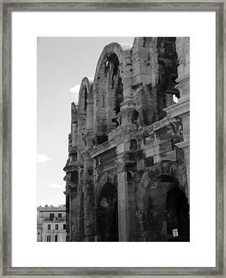 French Colosseum Framed Print by Noelle  Kimberley