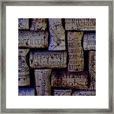 French Corks Framed Print by Anthony Jones