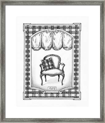 French Country Fauteuil Framed Print by Adam Zebediah Joseph