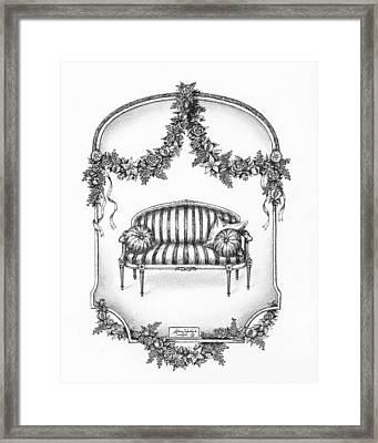 French Country Sofa Framed Print by Adam Zebediah Joseph