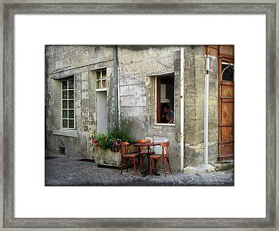 French Countryside Corner Framed Print by Joan  Minchak