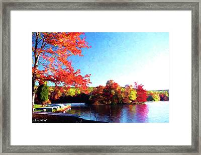 French Creek Fall 020 Framed Print