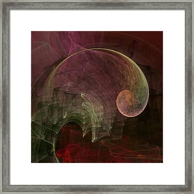 French Curve Framed Print