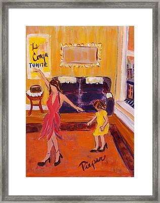 French Dancer Forsythe Street Framed Print