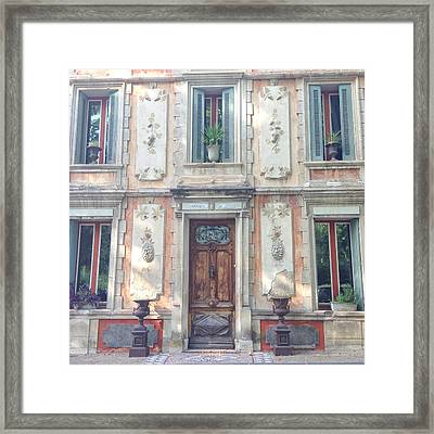 French Door Framed Print by Catherine Alfidi