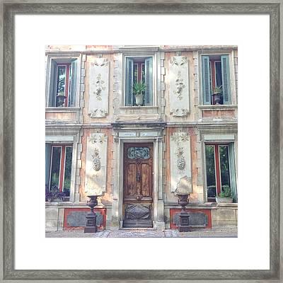 French Door Framed Print