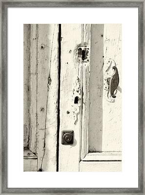 French Door Detail 2 Framed Print
