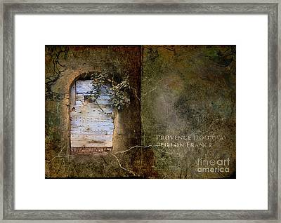 French Door In Provence Framed Print by Elizabetha Fox