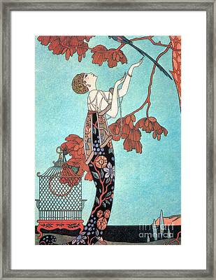French Fashion, George Barbier, 1914 Framed Print by Science Source