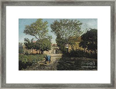 French Ferme Aux Environs Framed Print by MotionAge Designs